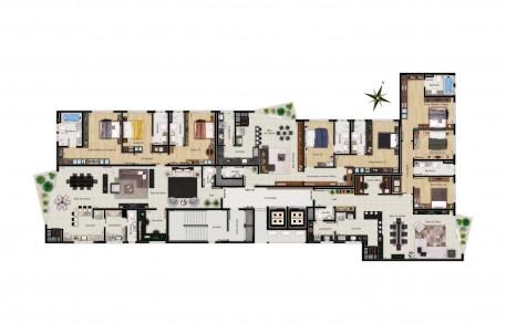 Apartamentos com sacada jardim